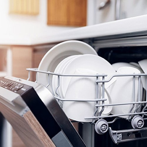Appliance Store — Clean Plates in Dishwasher in Bountiful, UT