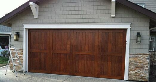 Wooden Garage U2014 Garage Door Repair In Monterey County, CA