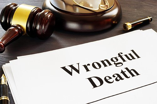 Wrongful Death Document And Gavel