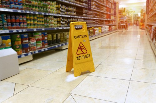Yellow sign - caution.