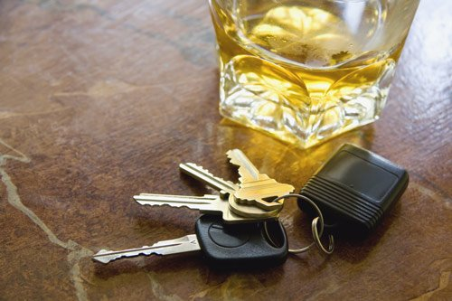 A liquor and a car key