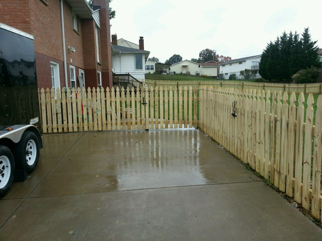 Residential Wooden Fencing West Virginia Ohio And