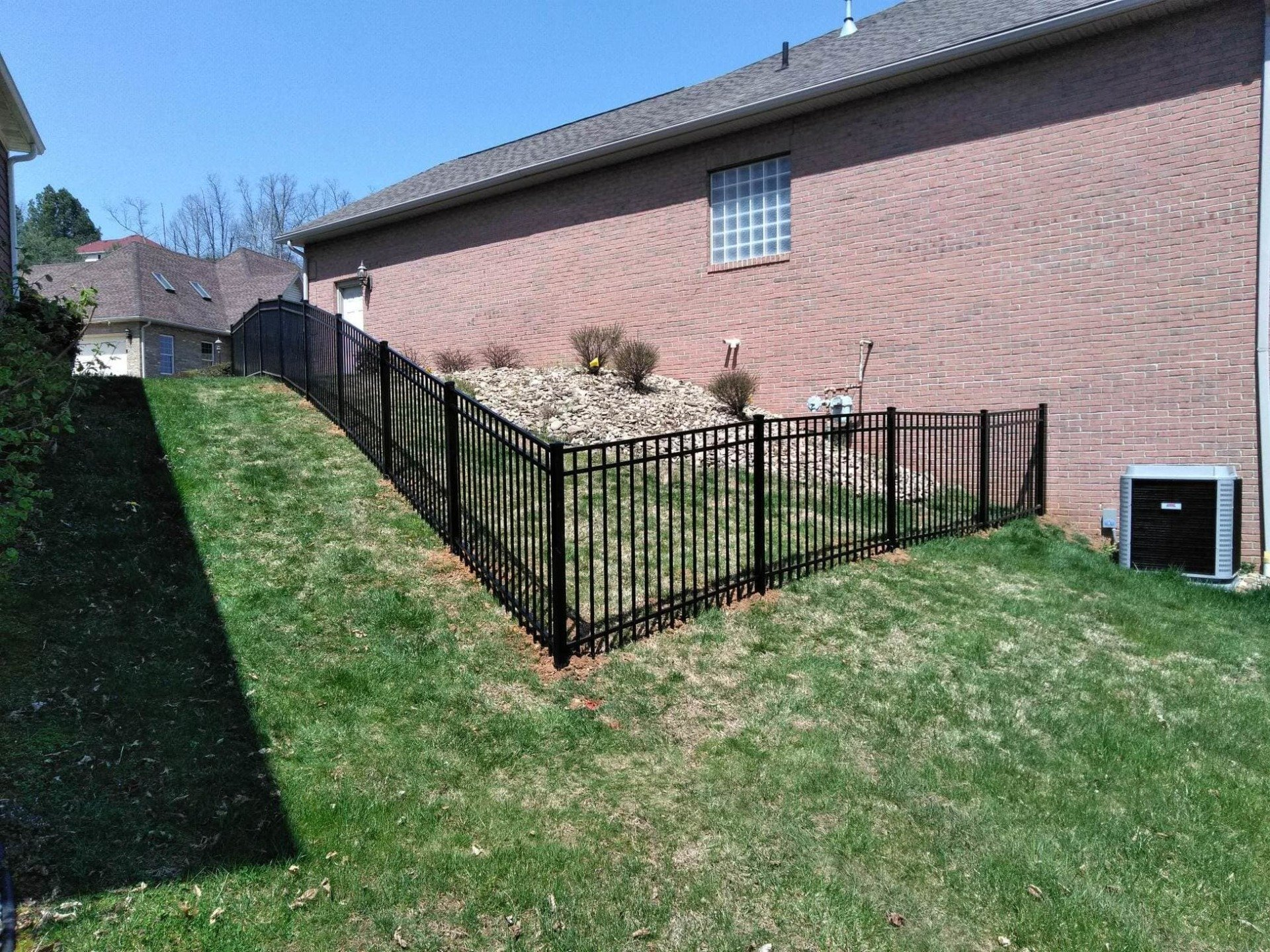 Black Ornamental Fence Around Yard - Fencing in Fairmont and Vienna WV & Residential Ornamental Fencing - West Virginia Ohio and ...