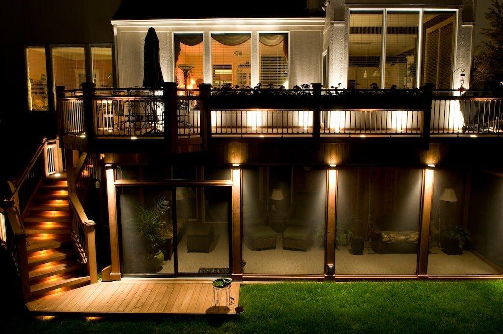 Exterior lighting kansas city ks decks lights and design by dan
