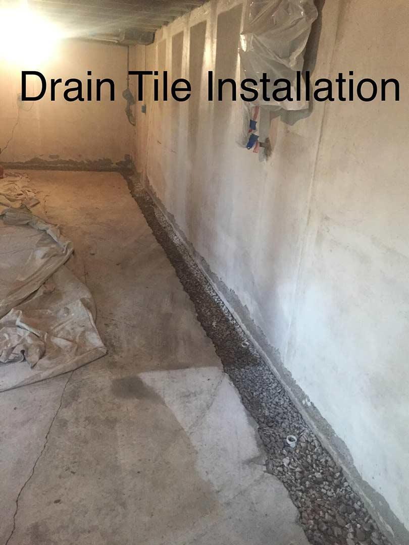 Basement Waterproofing   Drain Tile Installation In St. Louis, MO