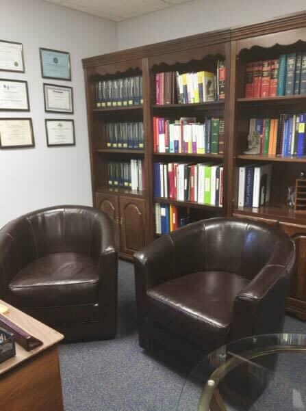 Sofa And A Bookshelf
