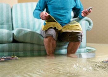 Flooded Living Room — Plumbing In Liberty, NY