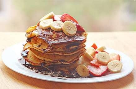 Banana And Strawberry Pancake   Pancakes In Minooka, IL