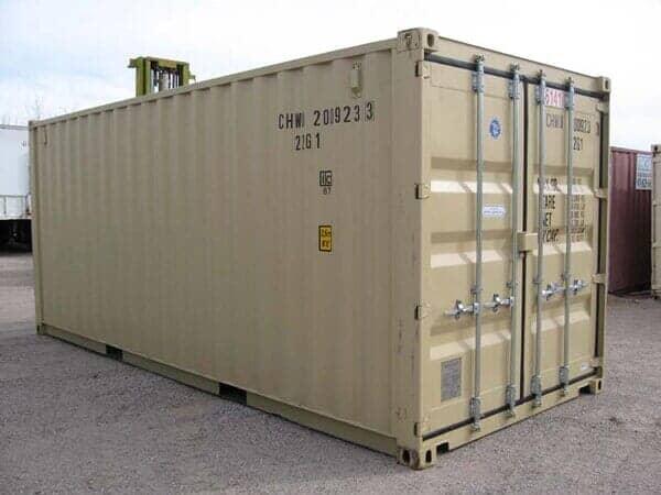Dual Door White Storage Container - Storage Unit Homes ... & storage-containers - Albuquerque NM - Fincham Mobile Storage