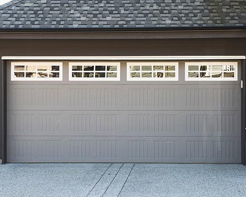 Grey and white garage door u2014 Garage door sales in Colorado Springs CO & Garage door contractor - Colorado Springs CO - Aspen Garage Door