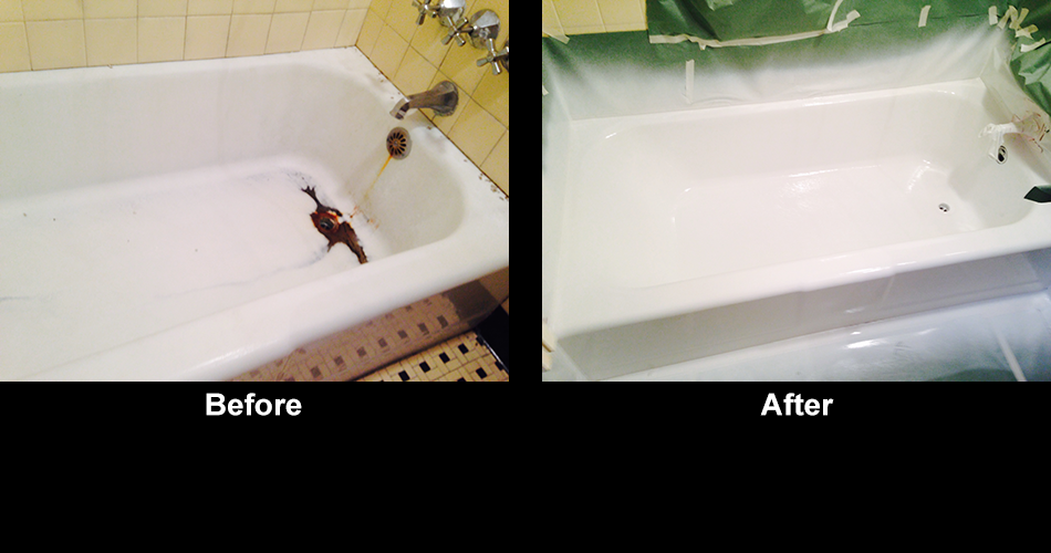 Previously Stained And Resurfaced Bathtub   Refinishing In Marshfield, MA