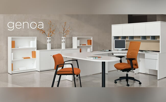 Nice Orange Chair And White Desk   Office Furniture In Albany, GA