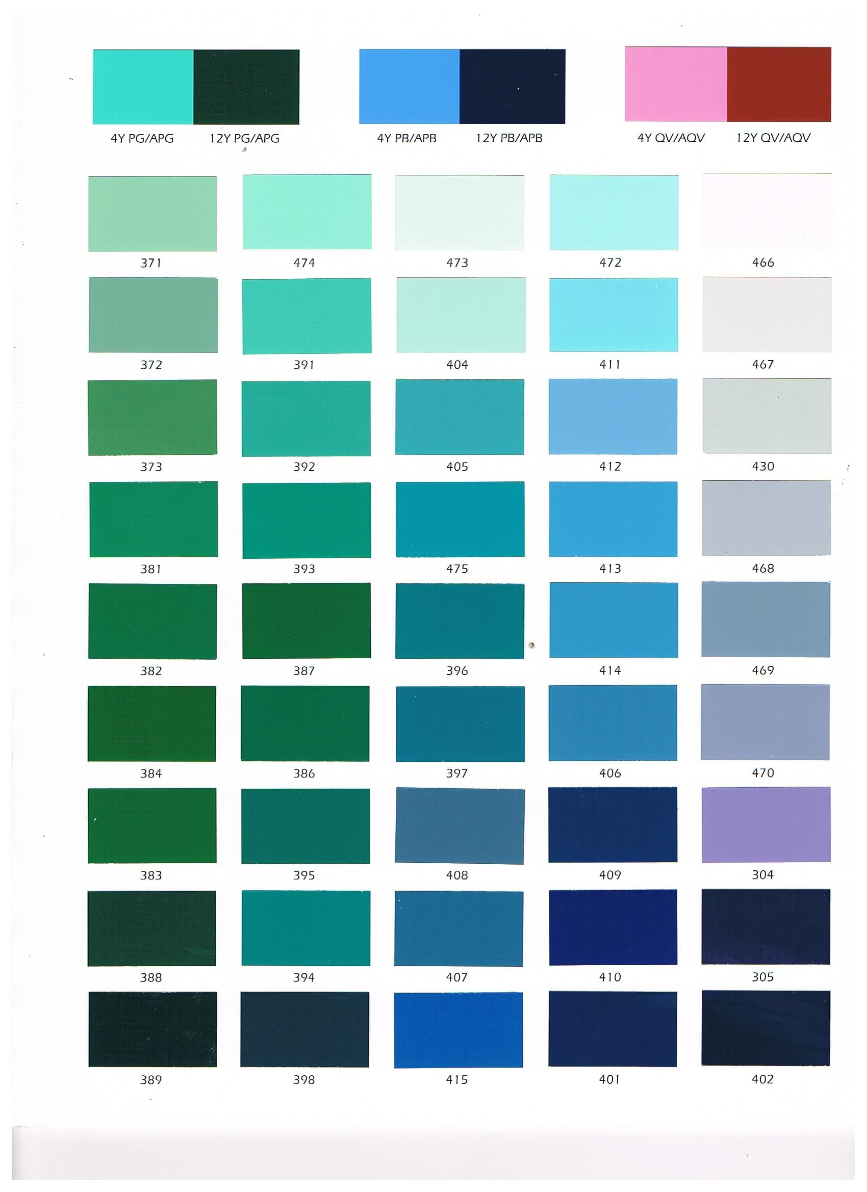 Color Charts Woods Cross Ut Valley Paint Mfg