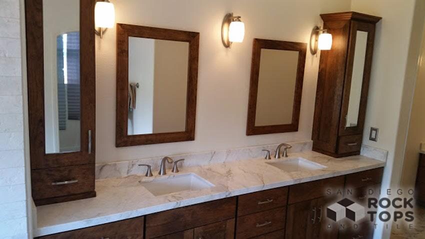 Marble Bathroom Countertops   Custom Countertops In San Diego CA