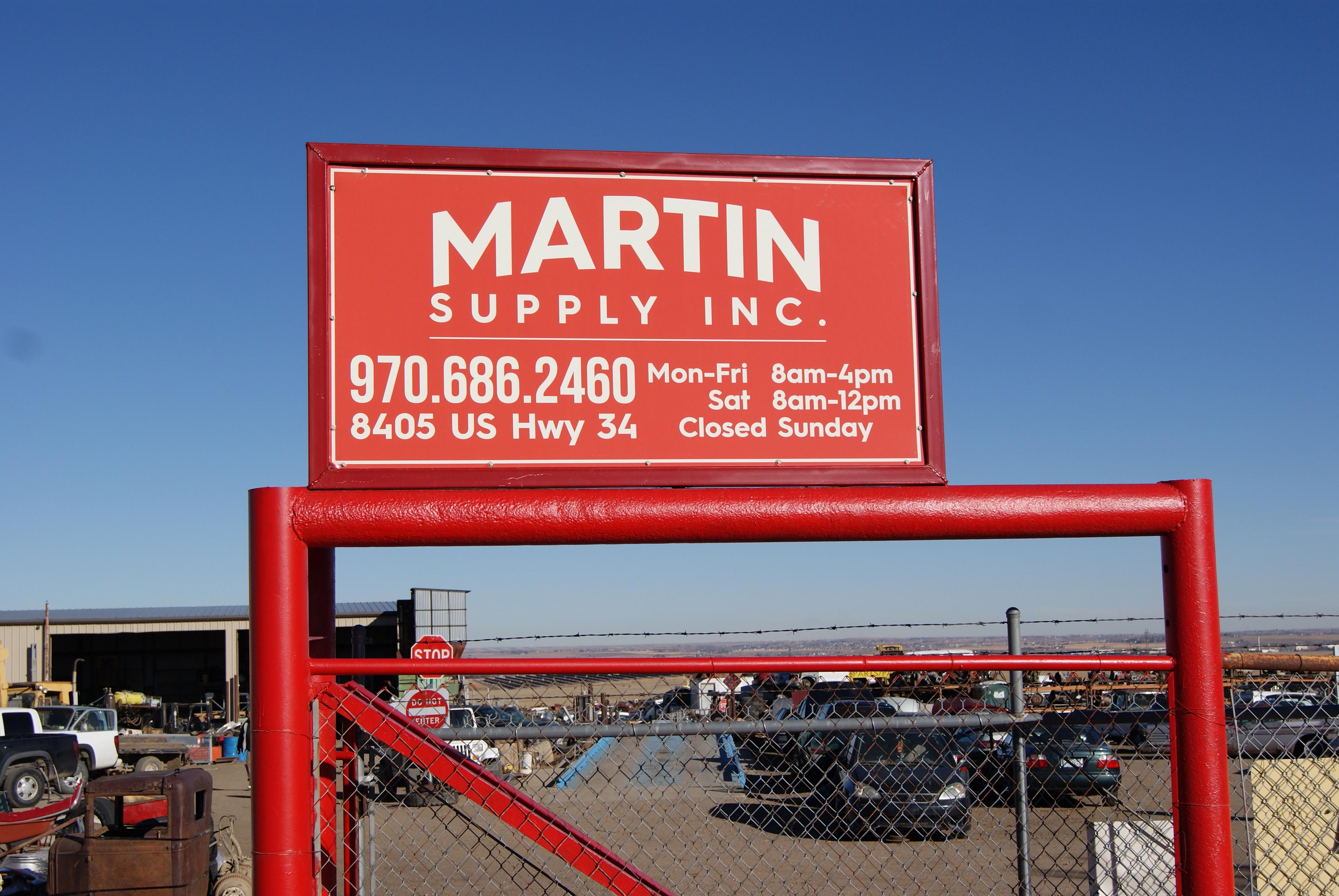 car parts, salvage, and sales - windsor, co - martin supply inc