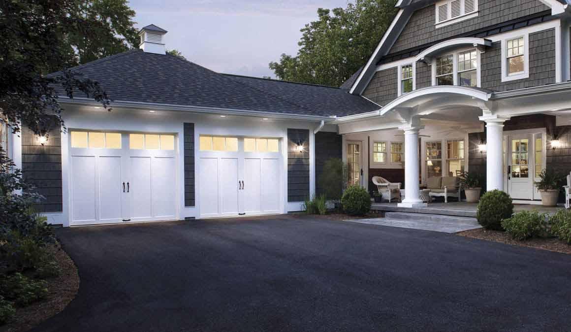 Modern White Garage Door Residential In Des Moines Ia