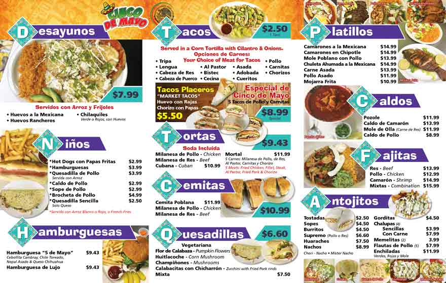 Menu Mexican Food In Norristown Pa