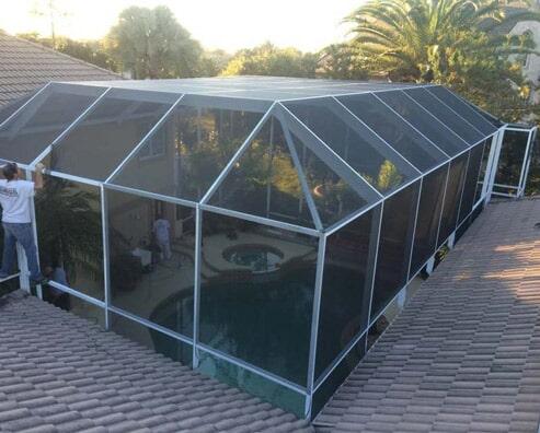 Garage Repair U2014 Pool Screen Enclosure In Holly Hill, FL