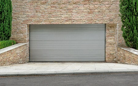 Brick Wall Silver Garage   Garage Door In , AR