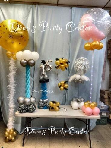 Centerpieces philadelphia pa dinos party center balloon center piece and column balloon centerpieces in philadelphia pa junglespirit Gallery