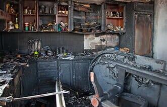 Burned Kitchen — Building Remodeling & Repair Contractors in Eliot, ME