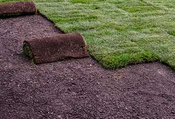 Landscaping Work Roll of Sod — Sodding Installations in Oklahoma City, OK