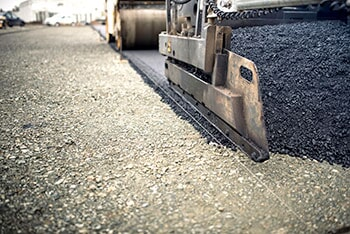 Pavement Truck During Road Works — Asphalt Paving in Union, SC