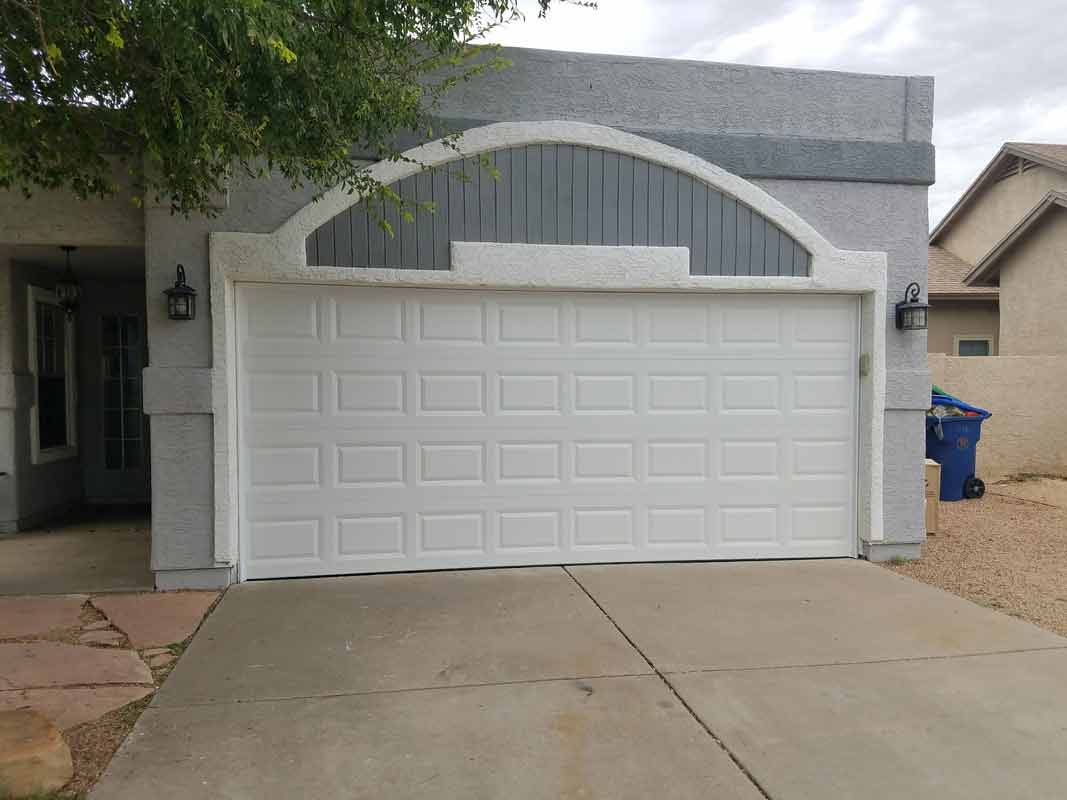 White Door Near The Tree U2014 Garage Door Repair In Gilbert, AZ ...