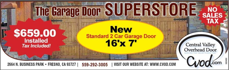 Bon Garage Door Repairs, Service Or Maintenance Discounts U2014 Overhead Doors  Service In Fresno, CA