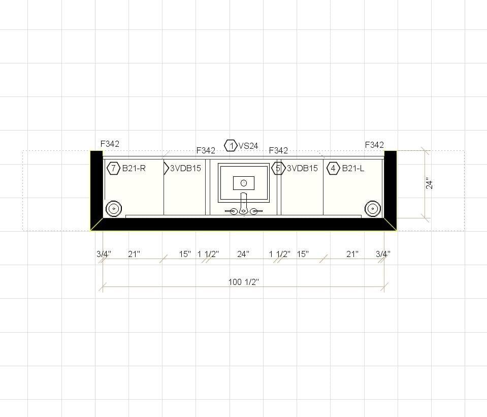 Sketch Plan of Kitchen - kitchen design in Atlanta GA