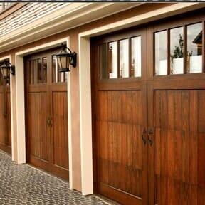 Wooden   Garage Door In Westminter Co