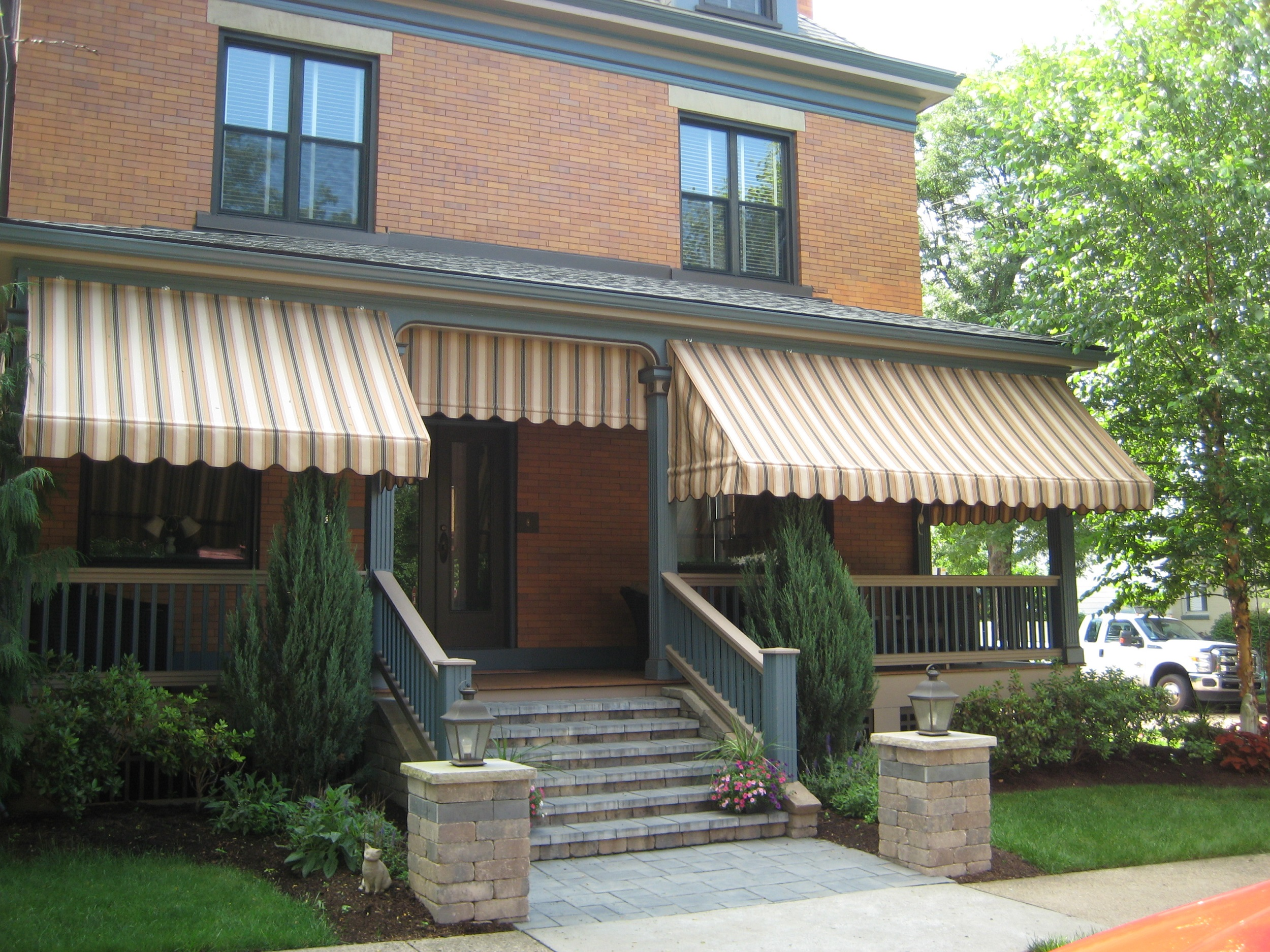 patio samples customers retractable tent awnings gallery residential have their awning through glance a edmonton see to take moment our homes coverings added products of window
