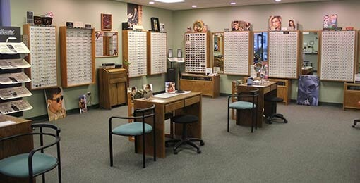 Inside of the Store- Optical products in Plainville, CT