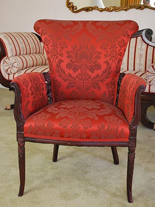 Ordinaire Red Ornate Chair U2014 Interior Designers In North Providence, RI
