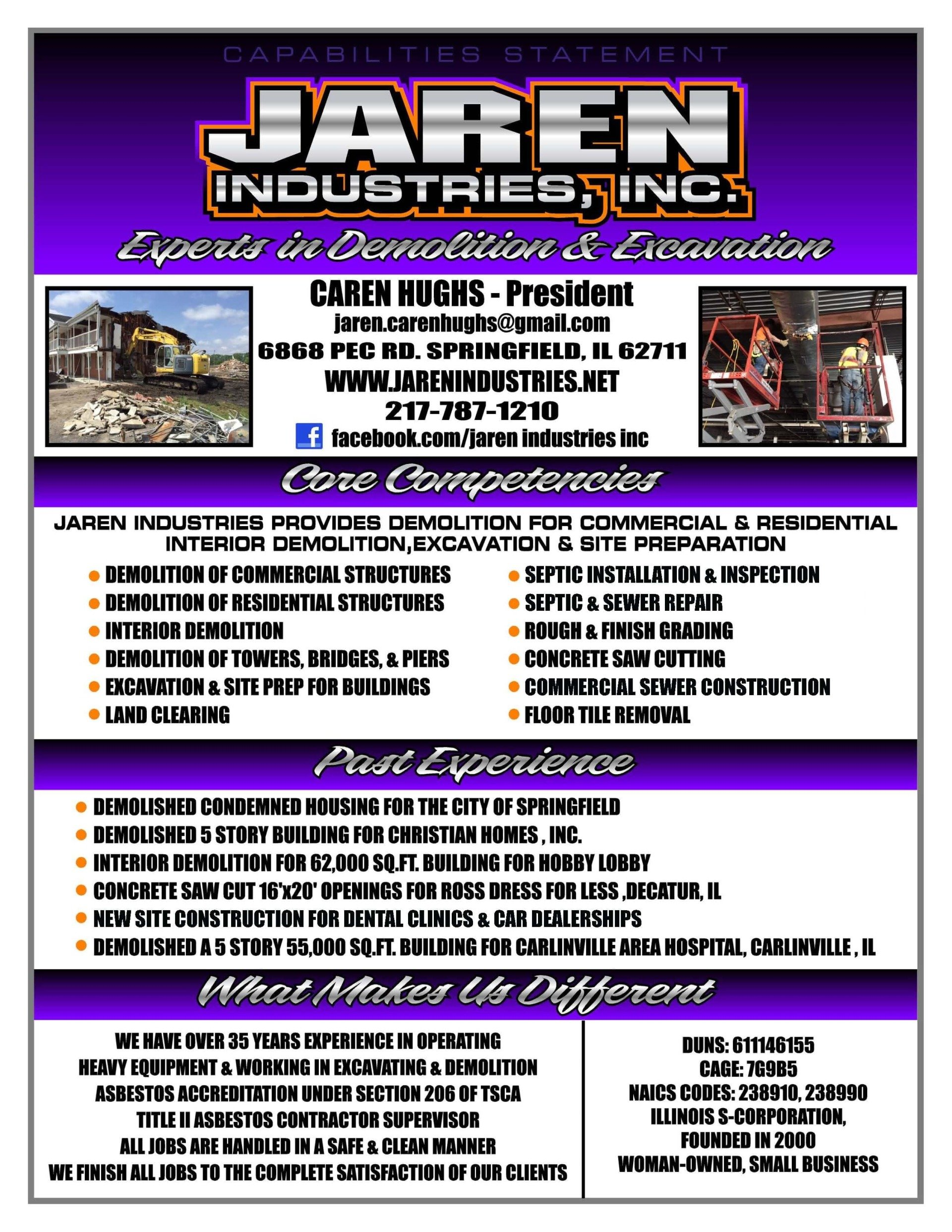 Contracting Services Springfield Il Jaren Industries