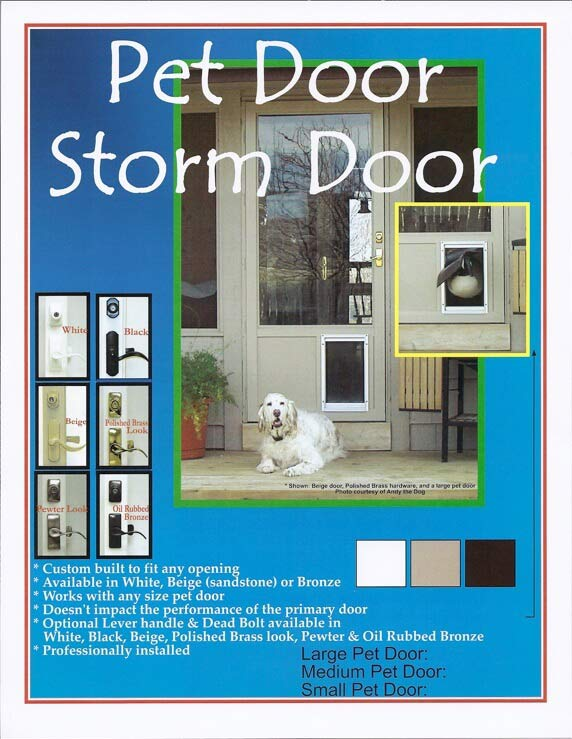 Pet Storm Doors - Des Moines, IA - Corn Belt Window and Door