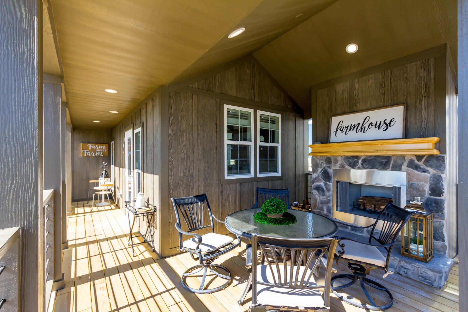 Tiny Homes 523 Porch North Texas Factory Showcase Homes Llc