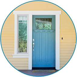 Delicieux Home With Blue Door   Window U0026 Door Installation In Cheyenne, ...