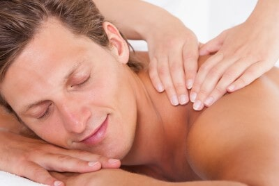 Relaxed Man Having Back Massage — Massage Therapy in Royal Oak, MI