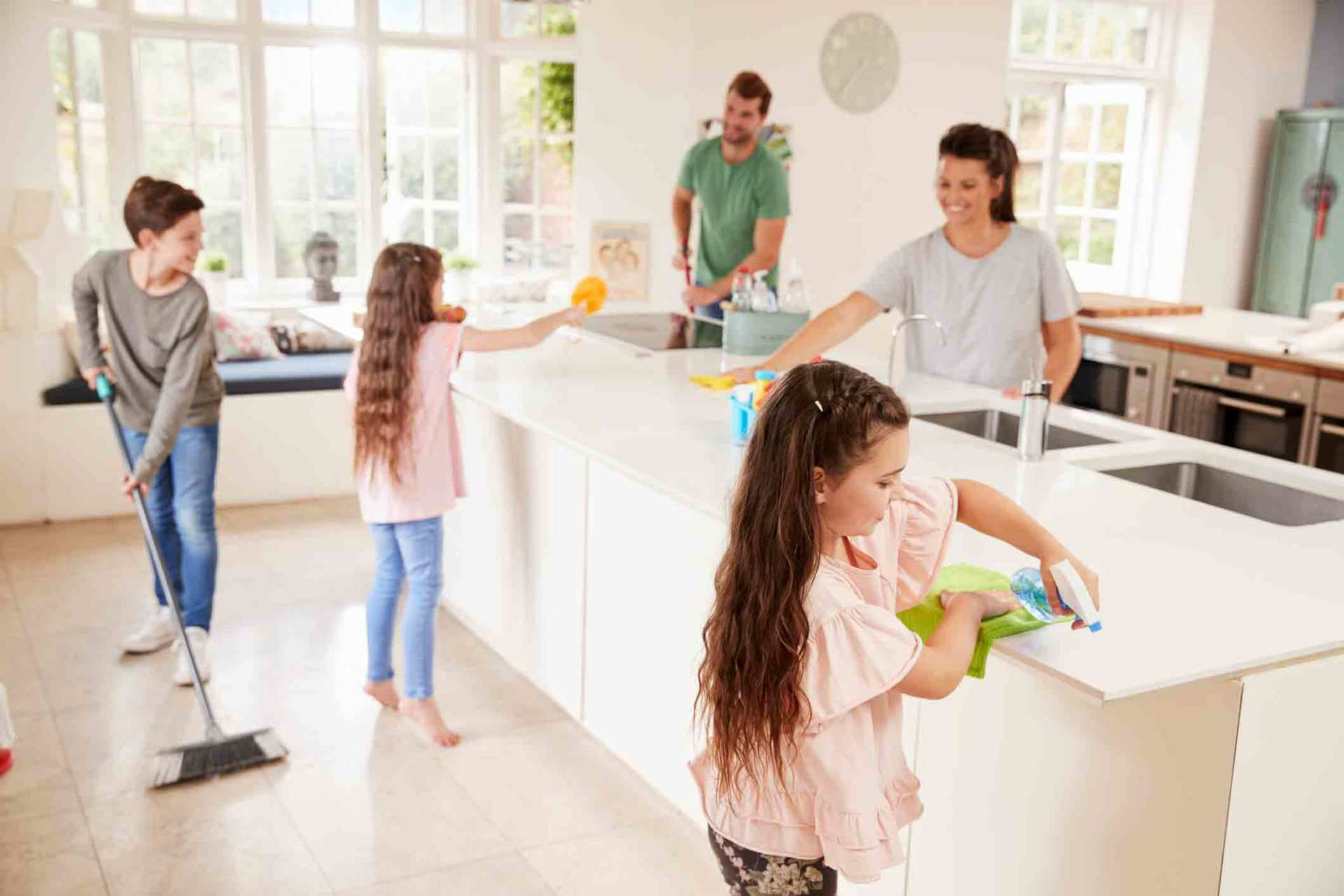 how to keep your home clean between professional cleanings