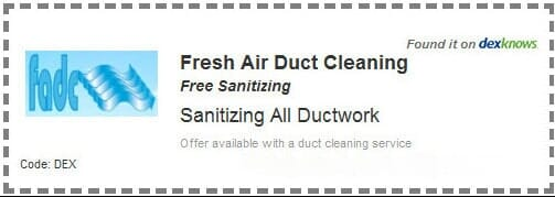 Fresh Air Duct Cleaning Duct Cleaning Coupons Air