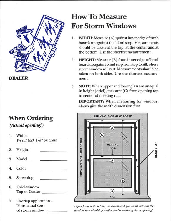 measure a storm window custom storm windows and doors des moines ia