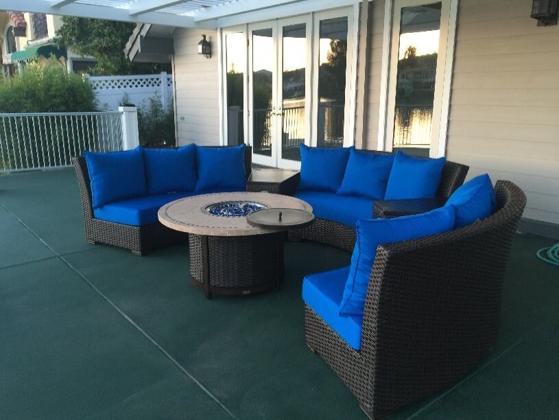 Genial Blue And Black Sofa   Patio Accessories In Harrison St Corona, CA