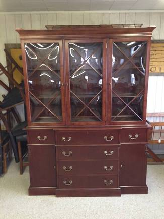 Front View Of Red Cabinet U2014 Furniture Repair In Boise, ID