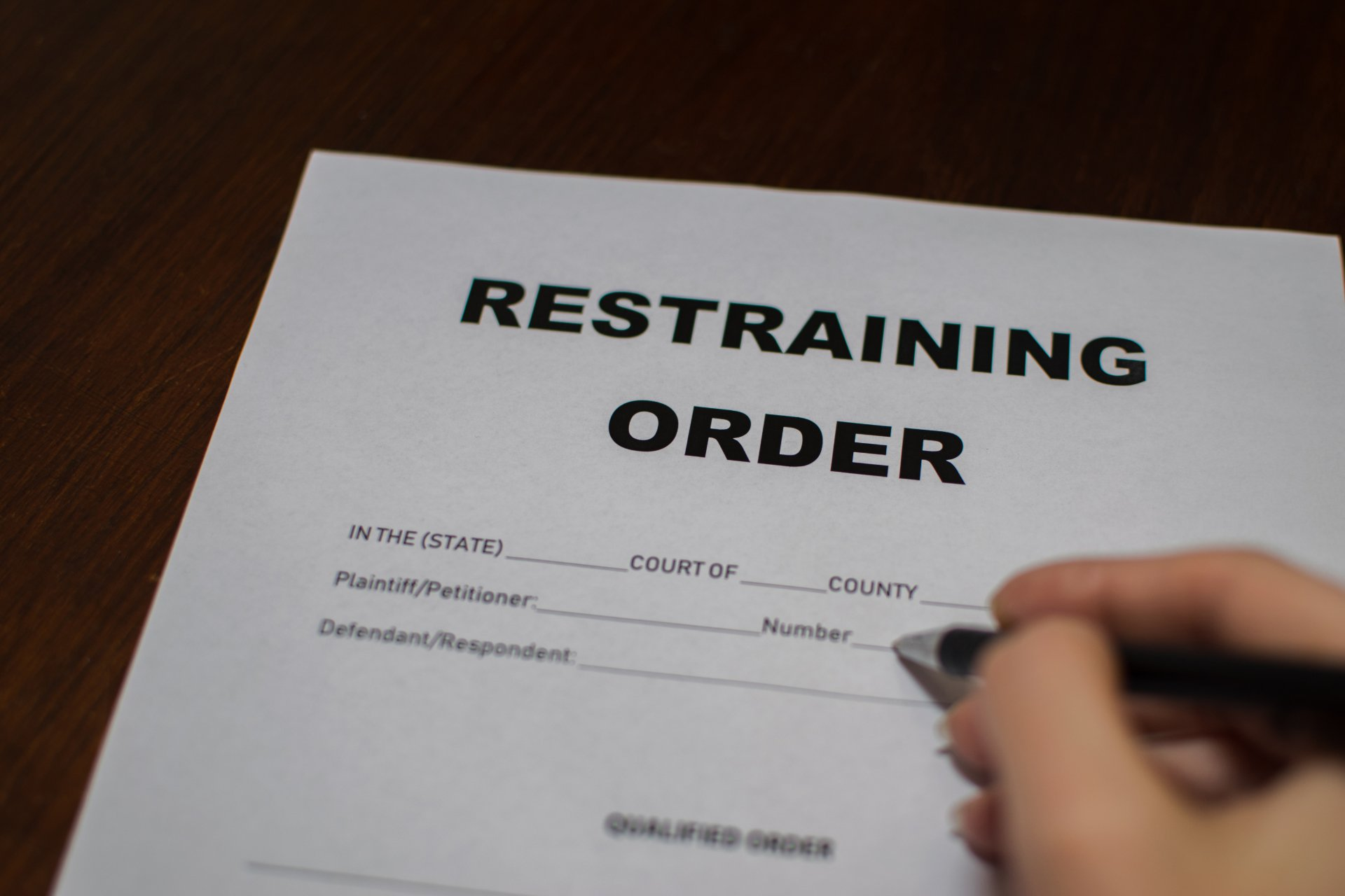 Restraining order essay