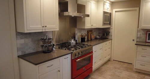 Kitchen With Red Oven U2014 Home Remodeling In Olympia, WA