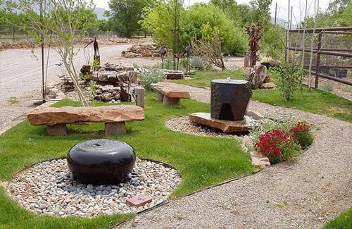 Drilled Rock Design - Drilled Rock in Albuquerque, NM - Pond Installation - Albuquerque, NM - Steve Shelly Landscapes