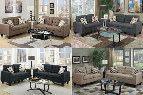 2 Piece Sofa Loveseat With 3 Tables Only $599