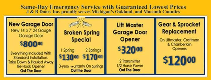 Garage Door Service | Rochester Hills, MI | J U0026 B Doors