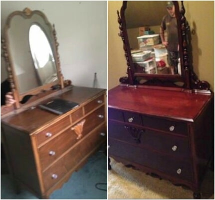 Superieur Cabinet With Mirror Before And After U2014 Furniture Restoration Little Rock In  Benton, ...
